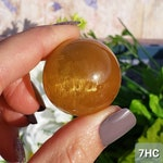 Honey Calcite Sphere, Crystal Ball, Calcite Sphere Healing Stone