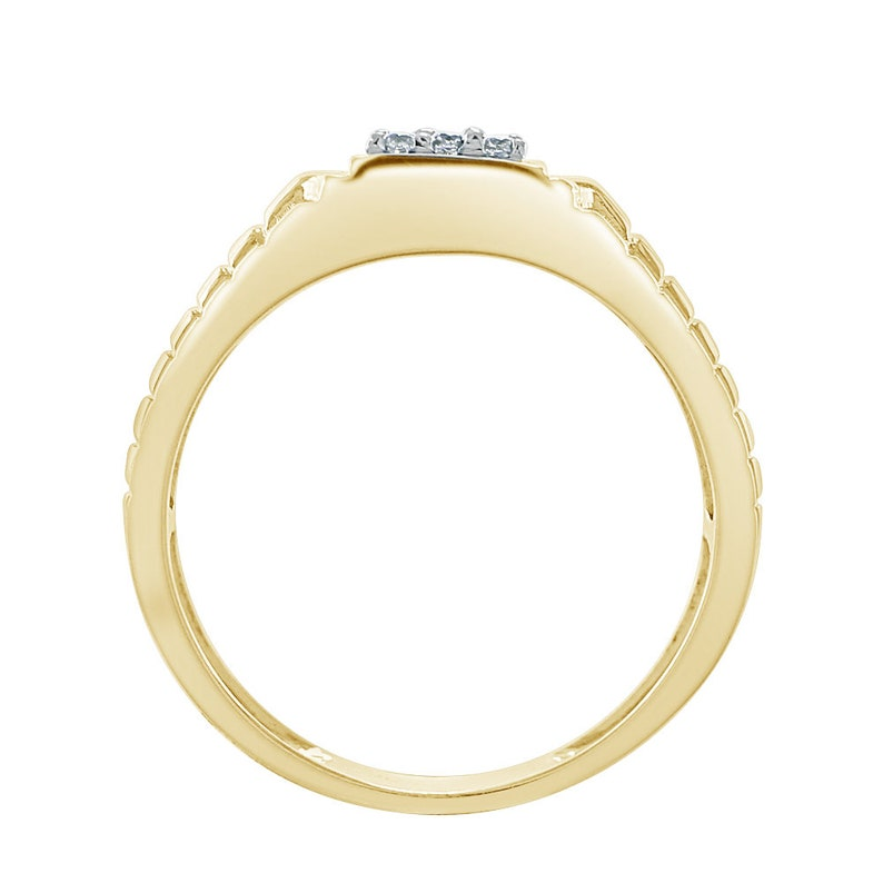 0.20 Cttw Round Cut DVVS1 Simulated Diamond 18k White  Yellow Gold Finish 925 Sterling Silver Mens Engagement Wedding Anniversary Band