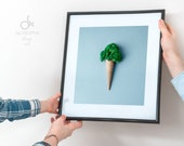 "Ice cream poster ""Broccoli"" 