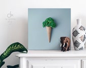 "Ice cream canvas print ""Broccoli"" 
