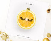 "Printable Christmas Card ""Tanti Agrumi"" Lemon - Instant Download - Simple Holiday Greetings 12x12cm"