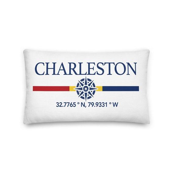 Charleston South Carolina Nautical Throw Pillow Charleston Etsy