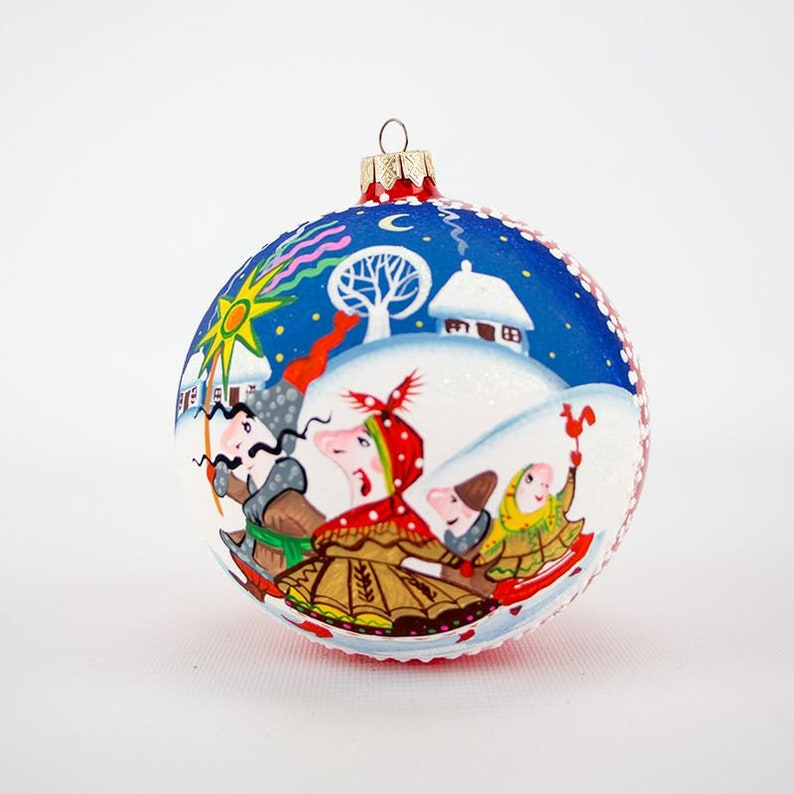 Hand painted Christmas tree glass ornament Christmas decoration, Christmas glass ornaments Hand-painted ornaments,custom ornaments