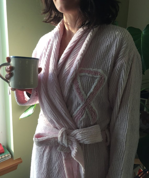 Vintage Canyon Group PINK RIBBON Chenille ROBE - C