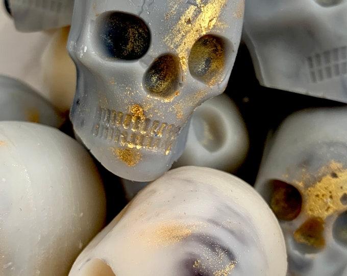 Nag Champa Wax Skulls, luxury  wax melts, home fragrance, Halloween wax melts, vegan, gothic, wax melts UK