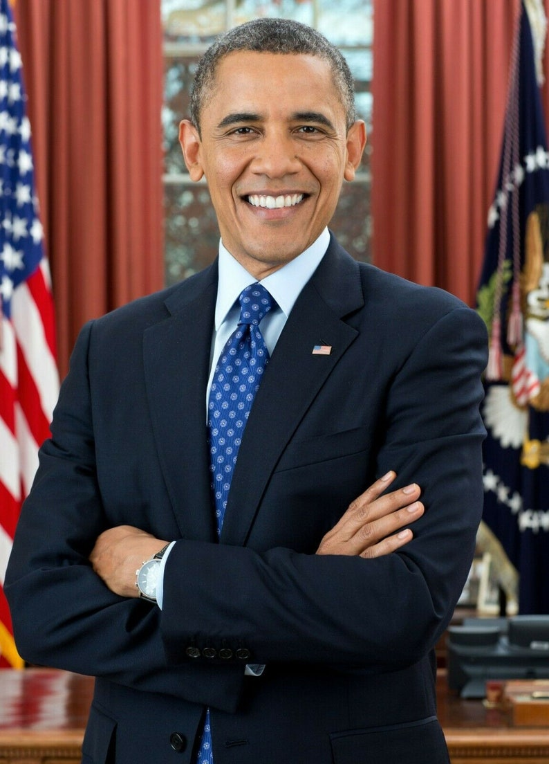 5x7 President Barack Obama Official PHOTO Portrait White House image 0