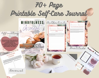 Self Improvement Journal Mindful Printable - Affirmation Journal - Self Reflection - Shadow Work Prompt - Self Help - Self growth