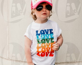 Kids Shirt Designs Toddler Valentines Day Shirt Svg Rainbow Love SVG PNG Pride Svg Design Cut Files DTG Heat Transfer Liv & Co. Consulting