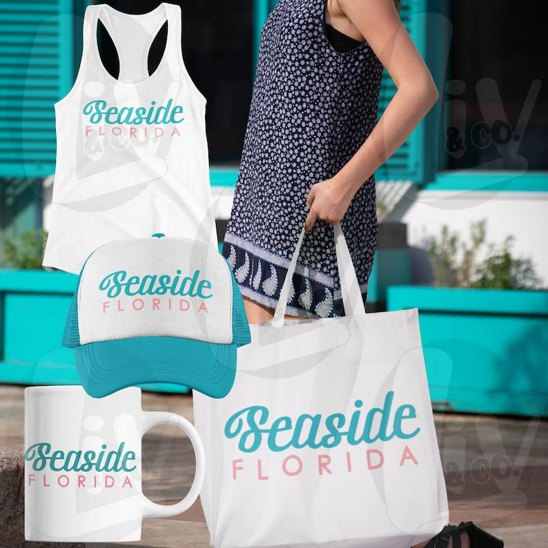 Seaside Florida SVG PNG Beach Shirt Design Svg Souvenir Beach image 0