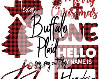 Buffalo Plaid Svg and Png Design Bundle Cut Files For Sublimation DTG Screen Print Heat Transfer DIY Shirts Mugs Hats Liv & Co. Consulting