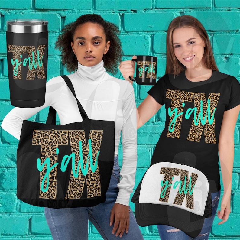 Y'all Leopard Print Texas SVG Designs Printable Vinyl image 0