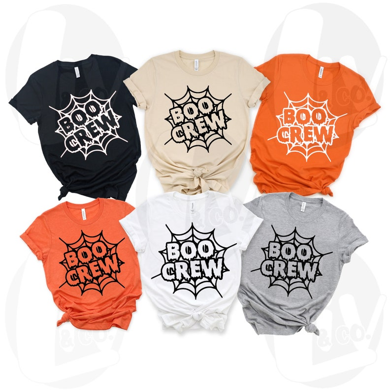 Boo Crew Spiderweb Halloween Svg Png Designs Fall Svg image 0