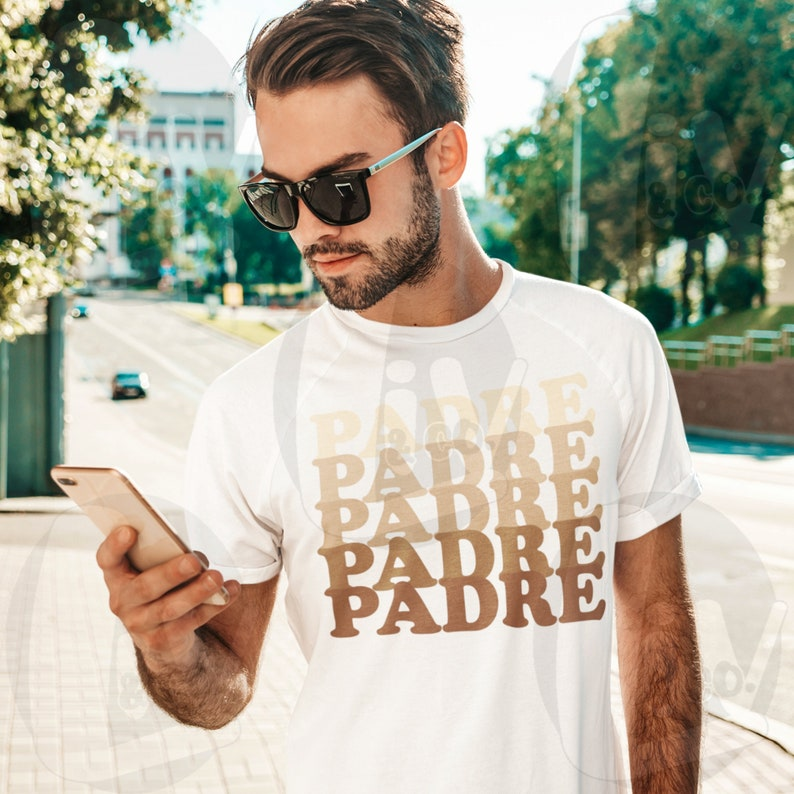 Padre SVG Dad Svg Vinyl Designs Dad Shirt Cut Files Fathers image 0