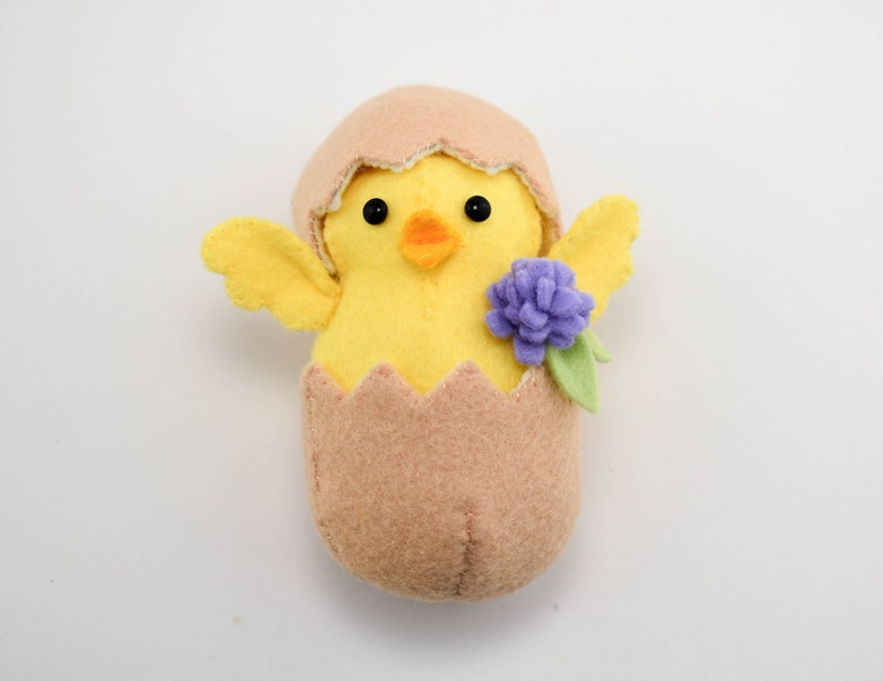 Hatching Chick Chickadee: A re-make kit to make a cute felt chick chocolate egg cover Creme Egg Cover Easter Egg