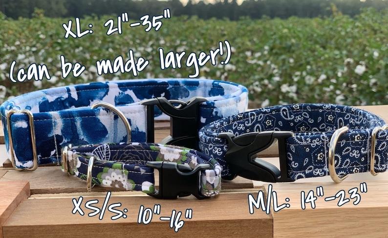 Handmade Custom Dog Collar Paper Airplanes XS S M L XL XXL Adjustable