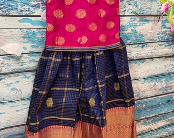 Suitable for Ages Around 5 !!! Little Girls traditional Langa Crop Top Set Stitched !!!
