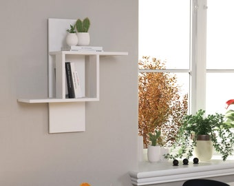Mill Wall Shelf Decorative Floating Shelves for Home Décor Bedroom Living Room Bathroom Kitchen 27 Inch White