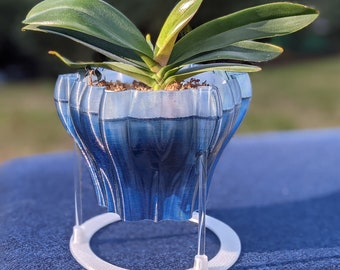Ring stand for Orchid Pot - shown with Blue Lily Planter
