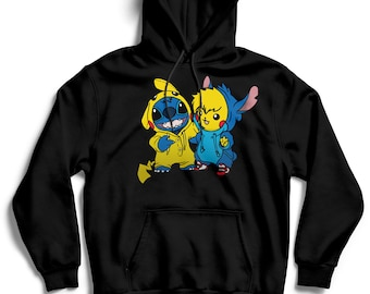 Stitch hoodie | Etsy