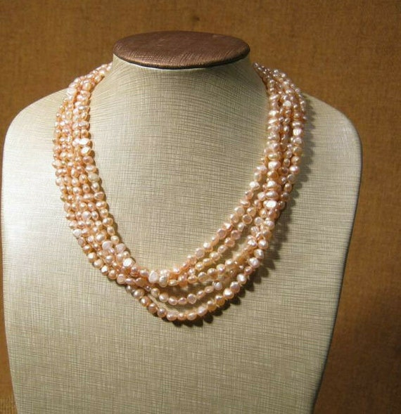 JUST REDUCED!! Baroque  Pearl Necklace with Kit Heath Sterling Clasp