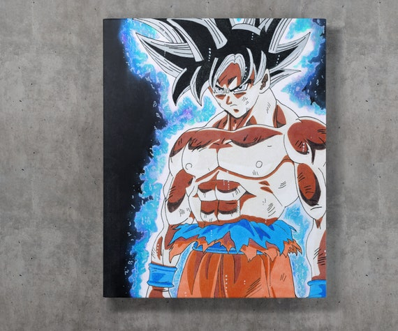Goku Ultra Instinct Canvas Print From Dragon Ball Super