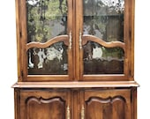 Vintage Country French Ethan Allen China Cabinet