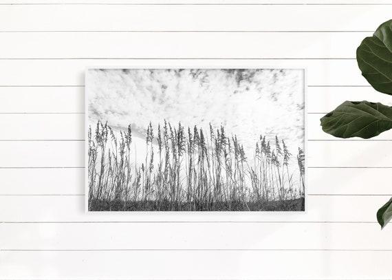 Beach Print, Black And White Wall Art,Minimalist Print,Landscape Print,Contemporary Print,Coastal Print,Dune Grass Print,Beach Poster