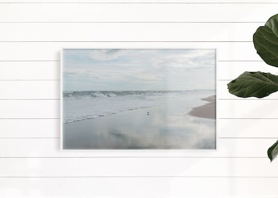 Beach Photography, Carolina Coast, Beach Dreamy Ocean, Calm Zen Water, Sand Pastel Wall Art, Coastal Seashore, Beach House Minimalist
