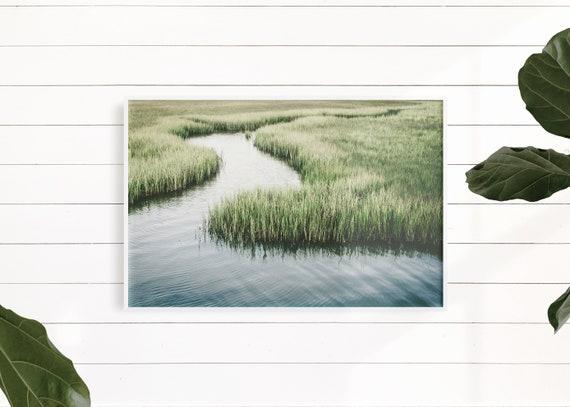 Marsh Landscape, Large Art, Coastal Art Print, Beach Coastal Decor, Marsh Print