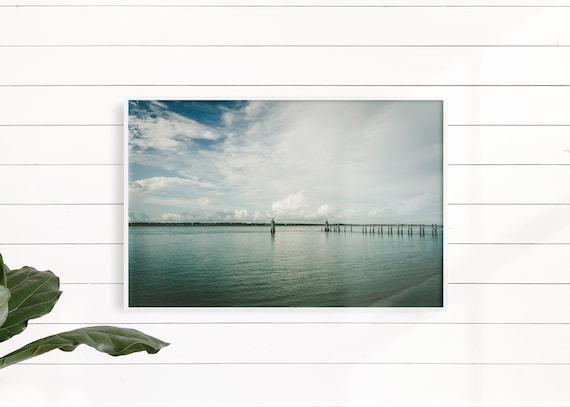 Minimalist Print, Minimalist Wall Art, Water Print, Water Wall Art, Wooden Pier Print, Sea Photography, Wood Jetty, Ocean, Large Poster,