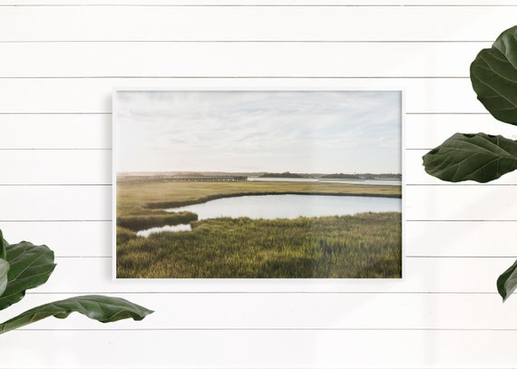 Marsh Landscape, Coastal Art Print, Beach House, Coastal Decor, Marsh Photography, Waterway Art, Sound Photography