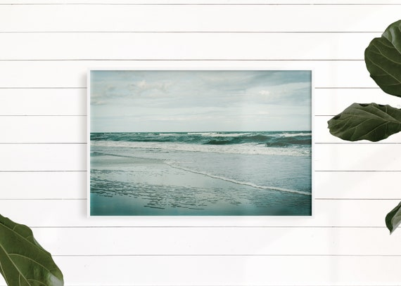 Teal Blue Water Beach Decor, Ocean Wave Art Print, Turquoise Blue Aqua Art, Ocean Water Wall Art Print