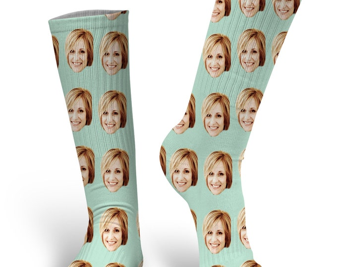 Wedding Face Socks - Groom Socks - Face on Socks - Novelty Socks - Custom Printed Socks - Fashion Socks - Stocking Stuffer
