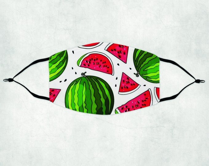 Water Melon Face Mask, Face Mask with Filters, Face Mask Filter, Watermelon Mask