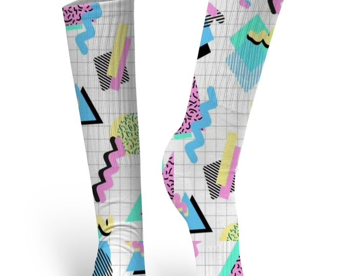 80's Design Socks, Custom Socks, 80's Custom Socks