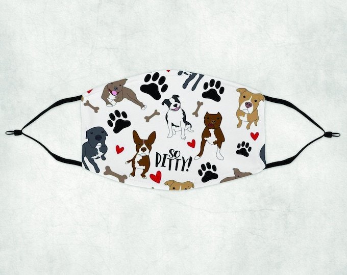 Pitt bull  Face Mask, Face Mask with Filter, Face Mask, Pitt Bull Face Mask, Pitt Bull Mask, Pitty Mask