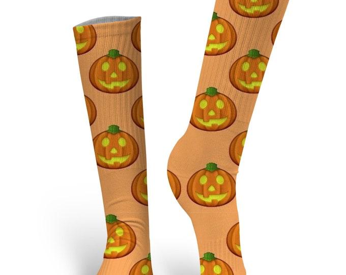 Halloween Socks - Custom Halloween Socks- Pumpkin Socks