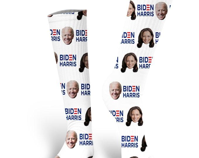 Custom Face Socks, Joe Biden Socks, Biden 2020, Biden Harris 2020, Kamala Harris Socks, Biden Harris Socks