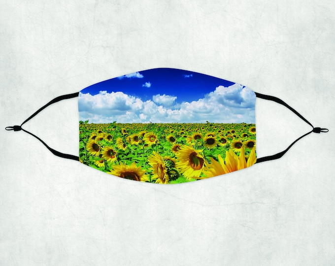 Sunflower Face Mask, Face Mask with Filter, Face Mask, Sunflower Mask, Sunflower