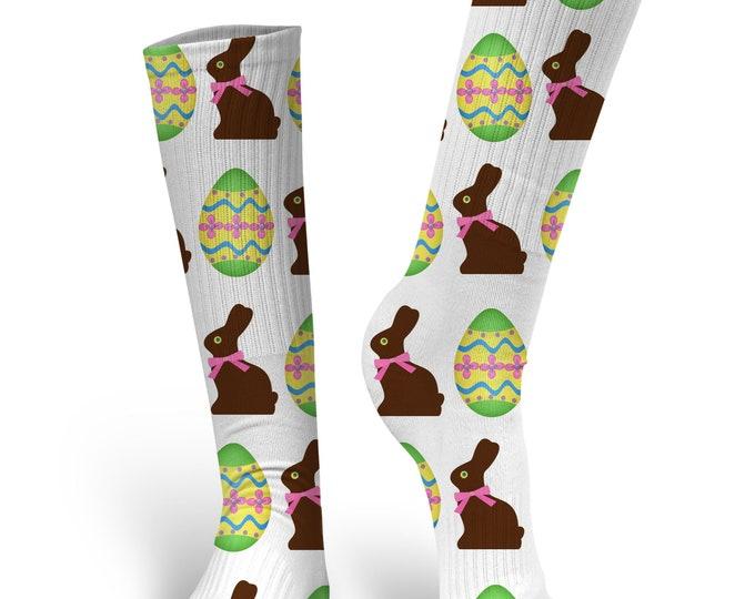 Easter Socks, Custom Easter socks, Bunny Socks, Easter Egg Socks, Easter