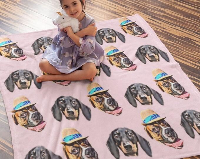 Custom Face Blanket, Custom Photo Blankets, Photo Blankets, Personalized Gift, Personalized Blanket, Pet Face Blanket, Dog Face Blanket