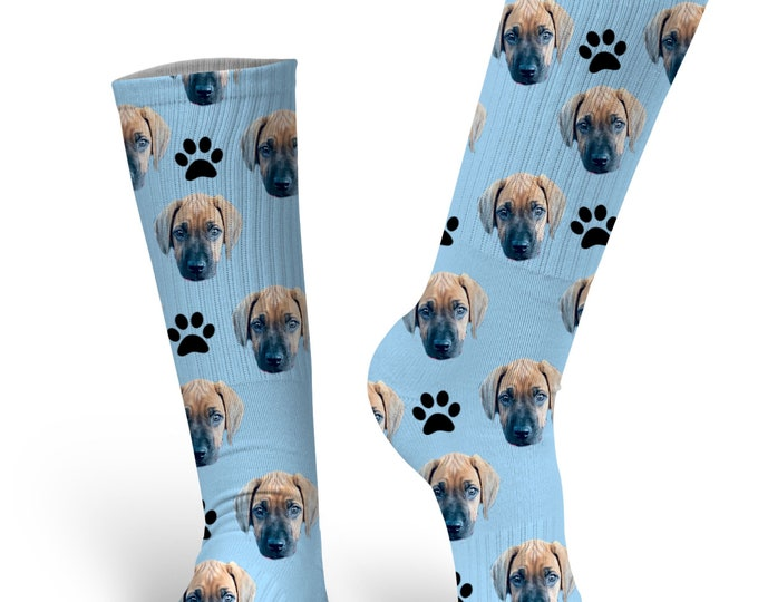 Custom Face Socks - Dog Socks - Picture Socks - Face Socks - Stocking Stuffer - Cat Socks - Photo Socks - Novelty Socks - Printed Socks