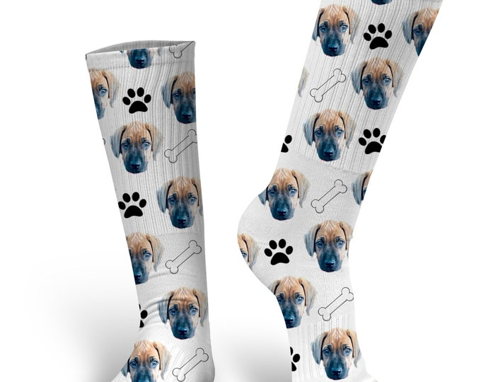 Custom Dog Socks - Put Your Dog on a Sock - Pup Socks - Dog Socks