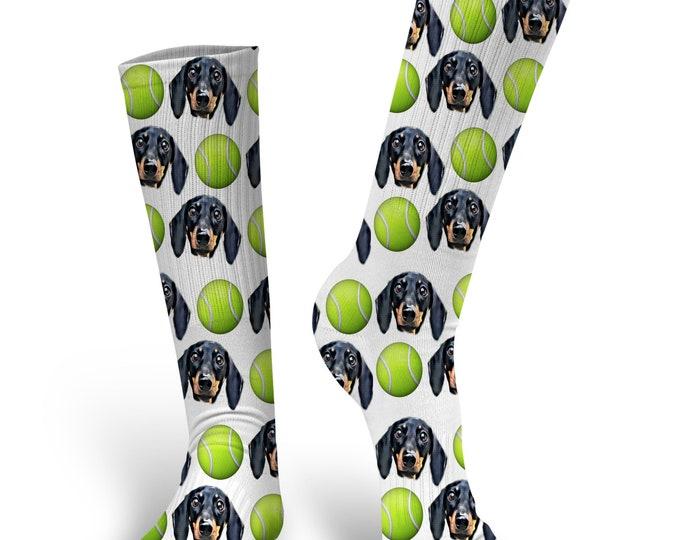 Custom Dog Socks - Put Your Dog on a Sock, PupSocks, Tennis Ball Socks