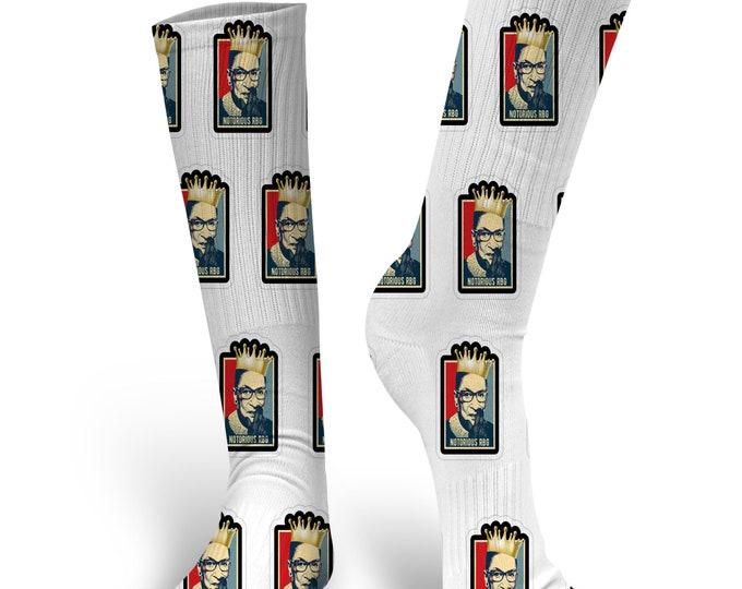 Ruth Bader Ginsburg Socks, RBG Socks, Notorious RBG Socks, Custom Socks, Custom Face Socks