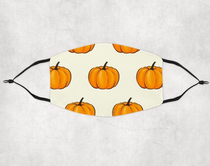 Halloween Mask, Custom Face Mask, Halloween face mask, Pumpkin Face Mask