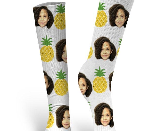 Custom Face Socks, Custom Photo Socks, Custom Socks, Personalized Socks, Custom Socks, Picture Socks, Pineapple Socks
