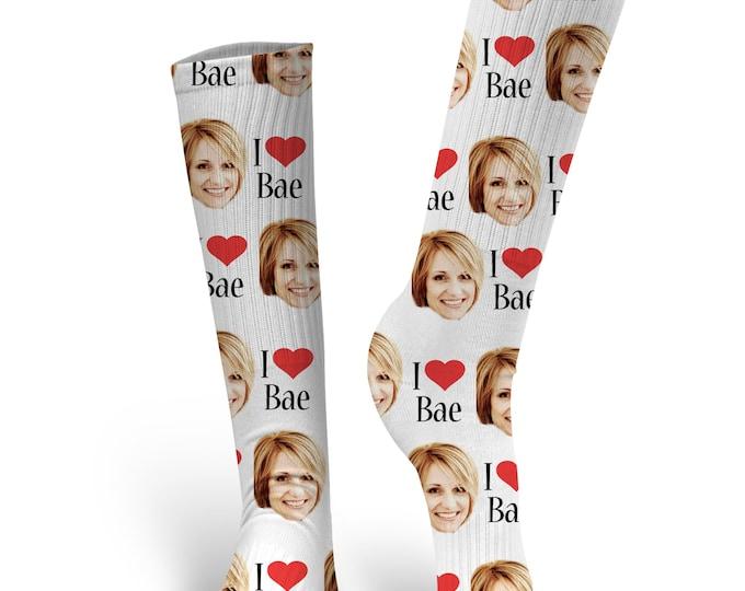 Bae Socks, Valentines Day Socks, Custom Face Socks, Custom Photo Socks, Custom Socks, Personalized Socks, Custom Printed Socks
