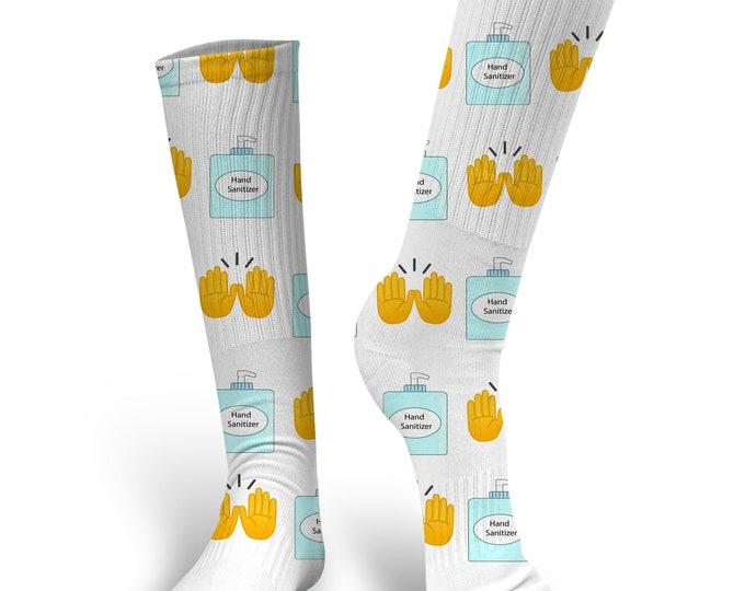 Hand Sanitizer Socks, Custom Hand Sanitizer Socks, Custom Photo Socks, Custom Socks, Personalized Socks, Custom Socks