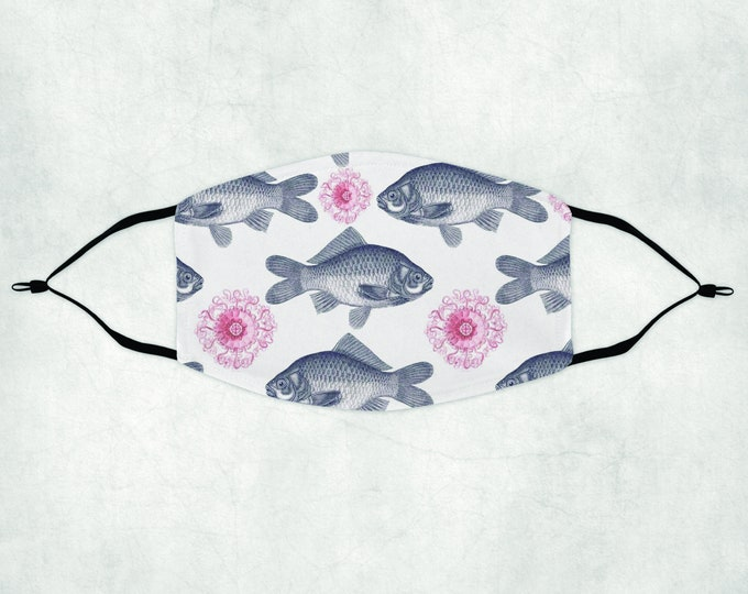 Fish Face Mask, Face Mask with Filter, Face Mask, Fish Mask